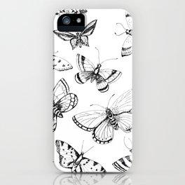 Butterflies and moths iPhone Case