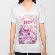 Stop and Smell the Roses Unisex V-Neck