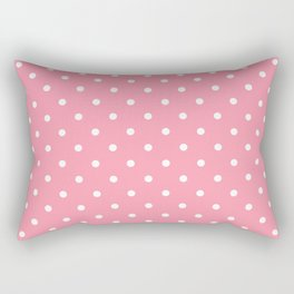 Light Pink Polka Dots Rectangular Pillow