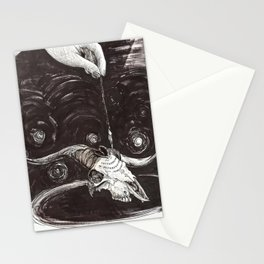 Goat Skull Ouija Stationery Cards