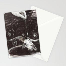 Goat Skull Ouija Stationery Cards