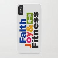 fitness iPhone & iPod Cases featuring Faith Joy & Fitness by Maria Faith Garcia