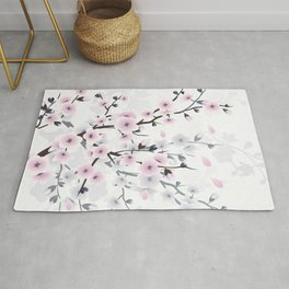 Pastel Cherry Blossom Rug