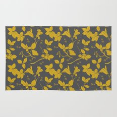 Drawings from Stonecrop Garden, Pattern in Gold & Grey Rug