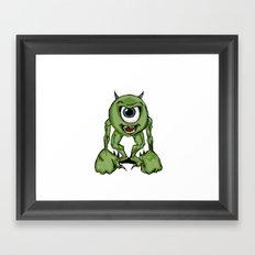 Mean Mike Framed Art Print