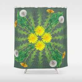Dandelion Cycle Shower Curtain