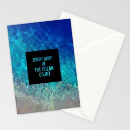 Every drop in the ocean - Earth Collection Stationery Cards