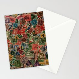 Vintage Postage Stamps Collection Stationery Cards
