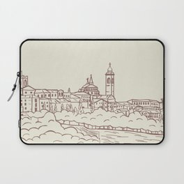 Hand drawn skyline of Citta Alta Bergamo, Italy Laptop Sleeve