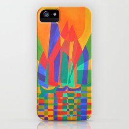 Dreamboat - Cubist Junk In Primary Colors iPhone Case