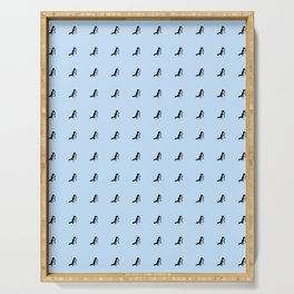 Bada Shanren – kingfisher 2– animal,nature,ink,zhu da, 八大山人 Serving Tray