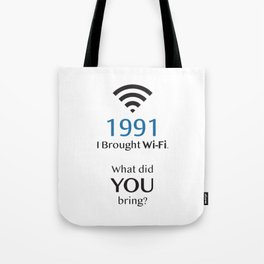1991 Birthday Tote Bag
