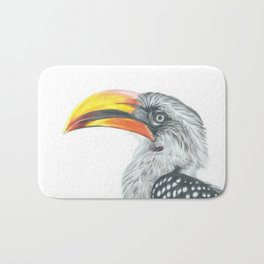Yellow-billed hornbill Bath Mat