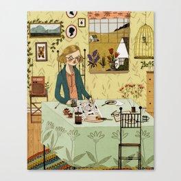 The Crossword Puzzle Canvas Print