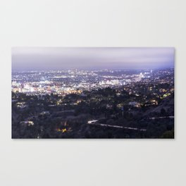 Los Angeles Nightscape No. 2 Canvas Print