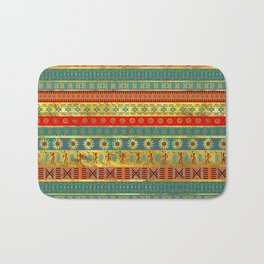 Colorful African Ethnic Tribal Pattern Bath Mat