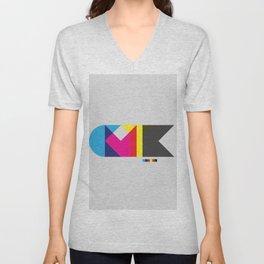 CMYK Unisex V-Neck
