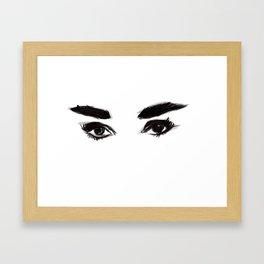 Audrey's eyes Framed Art Print