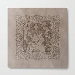 Queen Mokka Metal Print
