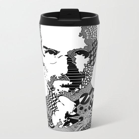 Steve Jobs Doodle Metal Travel Mug