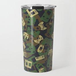 Gamer Camo WOODLAND Travel Mug