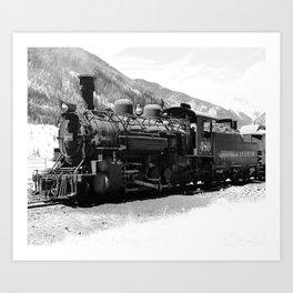 Durango - Silverton Engine 480 Art Print