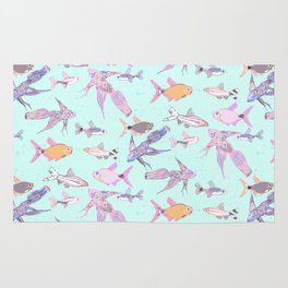 Pretty patterned fish Rug