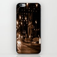 montreal iPhone & iPod Skins featuring Montreal Nights by Em Beck