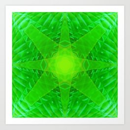 green star Art Print