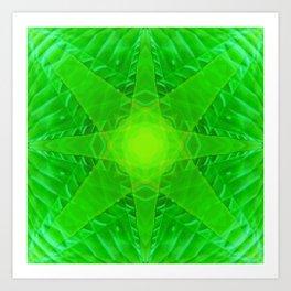 green star Art Print
