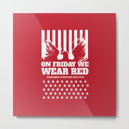 We Wear Red Friday Eagle Metal Print