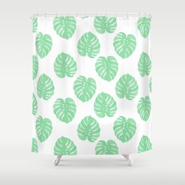 Palm Leaf indoor house plant hipster cheese plant palm leaf tropical vibes Shower Curtain