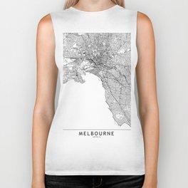 Melbourne White Map Biker Tank