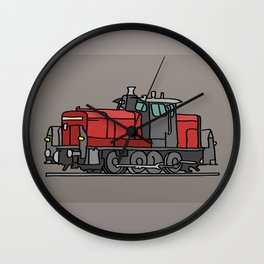 Diesel locomotive Wall Clock