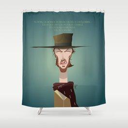 Blondie (Clint Eastwood) FR Shower Curtain