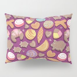 Mexican Sweet Bakery Frenzy // pink background // pastel colors pan dulce Pillow Sham
