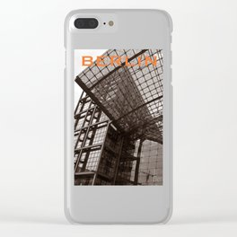 Facade of BERLIN Train Station Clear iPhone Case