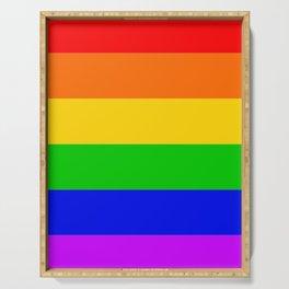 Gay Rainbow Transgender Rainbow Flag Serving Tray