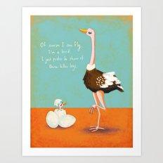 Confident Ostrich Art Print