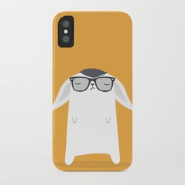 Hipster Bunny iPhone Case
