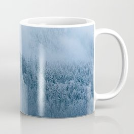 Mysterious moody winter forest - landscape photography Coffee Mug