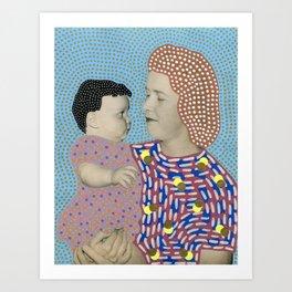 Telepathic Understanding Art Print