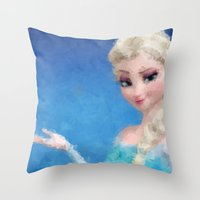 frozen elsa Throw Pillows featuring Elsa - Frozen by lauramaahs