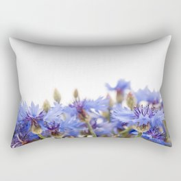 Bunch of blue cornflower flowerheads Rectangular Pillow