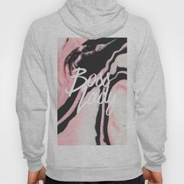 Boss Lady Pink Black Painted Marble Hoody