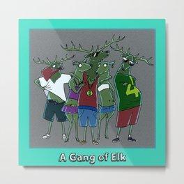 A GANG OF ELK Metal Print