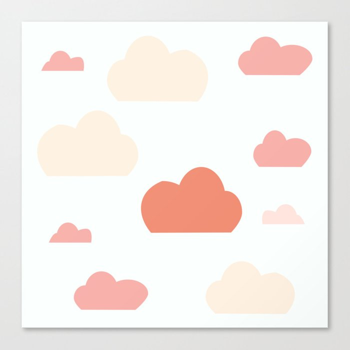 Cloud white and pink Canvas Print