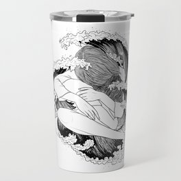battle of waves. Travel Mug