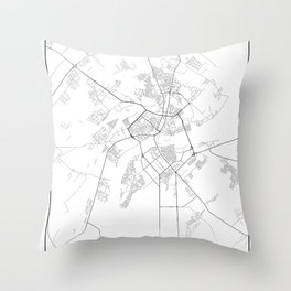 Minimal City Maps - Map Of Mogilev, Belarus. Throw Pillow