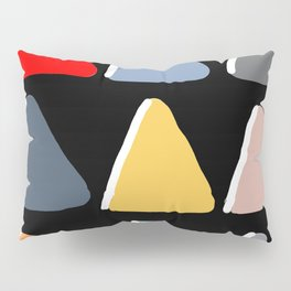 Geometric Pyramid Scheme on Black Background Pillow Sham
